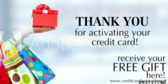 Activating Credit Card Free Gift