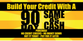 90 Days Same As Cash Buid Credit