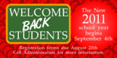 School Welcome Back Students