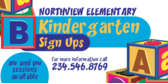 Kindergarten Enrollment Sign