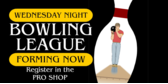 Bowling League Forming Now Pin Silloutte
