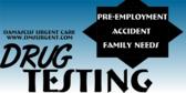 drug testing signs