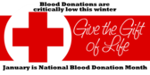 Blood Donation Winter Critically Low