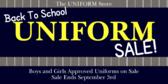 Uniform Sale Back to School