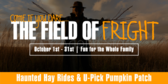 Haunted Hayride Field of Fright Banner