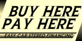 Car Stereo Financing