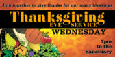 Thanksgiving Eve Church Service
