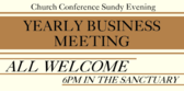 Church Conference Annual Business Meeting