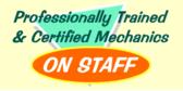 Professionally Trained & Certified Mechanics