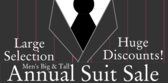 Big and Tall Suit Sale
