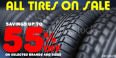 Tire Sale Select Brands