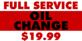 Oil Change Full Service Bold