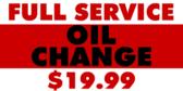 Oil Change Full Service Bold
