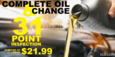 Oil Change 31 Point Inspection