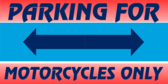 Parking Motorcycles Span Arrows