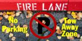 No Parking Tow Away Zone Fire Lane