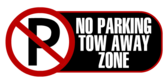 No Parking Tow Away Zone Black