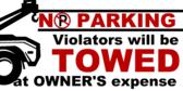 No Parking Violators Towed