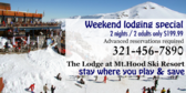 Weekend Lodging Special