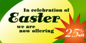 Easter Discount Sale