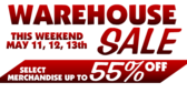 Warehouse Sale Black White Red