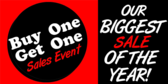 BOGO Sale Biggest Of The Year
