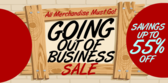 going out of business sale banner template