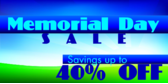 Memorial Day Sale Grassy Hill