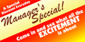 Managers Special Deal