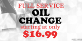 Oil Change Full Service Checkerd Flag