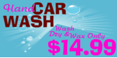 Car Wash Hand Dry and Wax