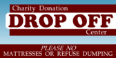 donation signs