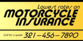 Insurance Motorcycle Low Rate