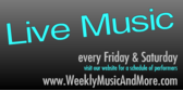 Live Music Every Friday And Saturday