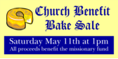 Church Benefit Bake Sale