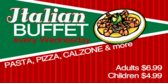 Italian Buffet Wednesday