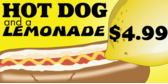 Hot Dog With Lemonade