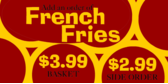 French Fry Menu