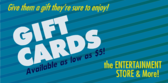 Entertainment Holiday Gift Cards