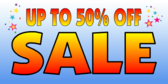 Sale 50% Off Blue