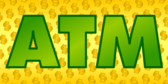 ATM Banner Yellow Dollar Sign