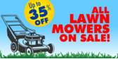 Lawn Mower Sale