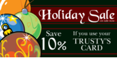Holiday sale for Store Card Holders