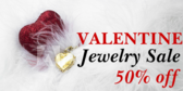 50% Off Valentine Jewelry Sale Banner