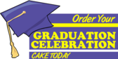 Graduation Cake Advertising Sales Banner