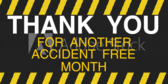 Accident Free Month