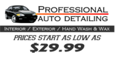 Car Wash Auto Detail Priced Banner Design
