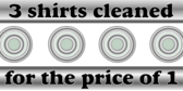 3 for 1 Shirt Dry Cleaner