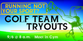Golf Tryouts Banner Design