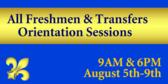 Freshmen Transfer Orientation
